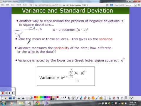 Summation Notation, Variance, and Standard Deviation