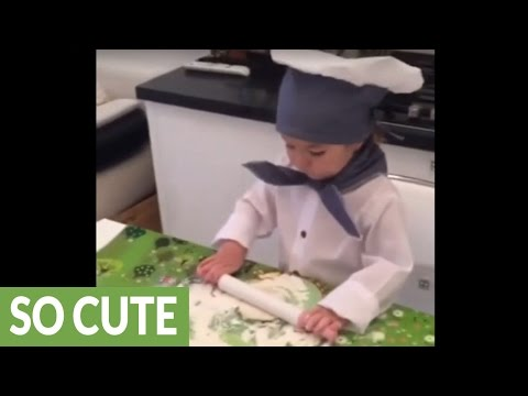 Little girl has big dreams of becoming a chef