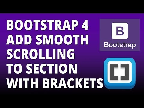 Bootstrap 4 Add Smooth Scroll To Section with Bootstrap 4 and Brackets Text  Editor