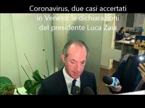 DUE CASI DI CORONAVIRUS IN VENETO - Gli aggiornamenti del governatore Luca Zaia 21/02/2020 from YouTube · Duration:  3 minutes 28 seconds
