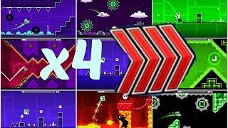 Los niveles de Robtop a velocidad x4! (21 niveles) | TheFlixlan |