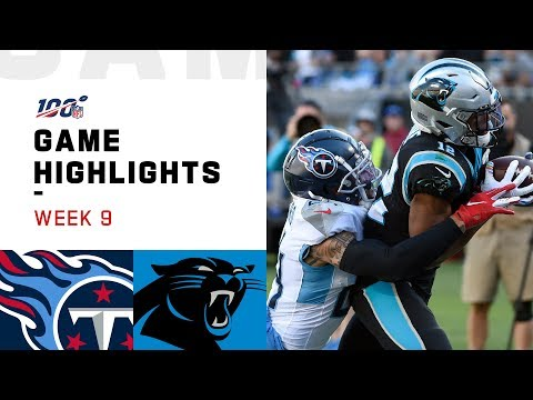 Titans vs. Panthers Week 9 Highlights | NFL 2019