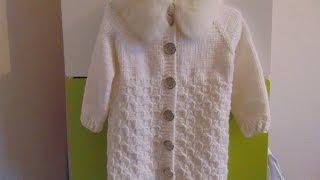 Вязание спицами Кофта для девочки 4-6 лет.часть 2