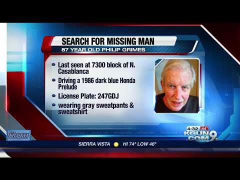 Search for vulnerable, missing man underway