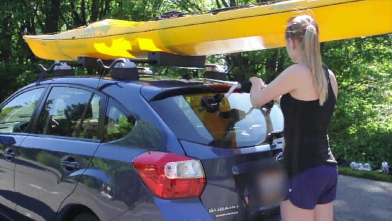 kayak lift assist suction mounted roof roller