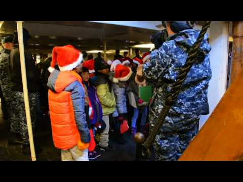 Harvard Kent Students Sing for USS Constitution Crew