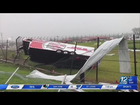 Storm moved through Wheatland, MO leaves behind damage at Lucas Oil Speedway