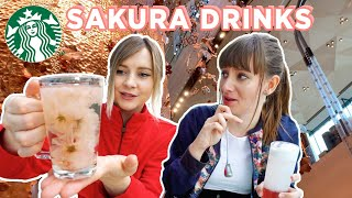 Tasting JAPAN EXCLUSIVE Sakura Drinks at the World's Biggest Starbucks!
