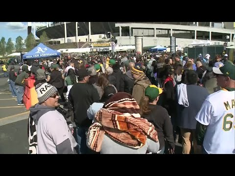 Raw Video: A's Fans Pack Oakland Coliseum For Free Admission Game