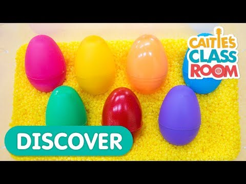Learn Colors with Surprise Eggs   Caitie's Classroom