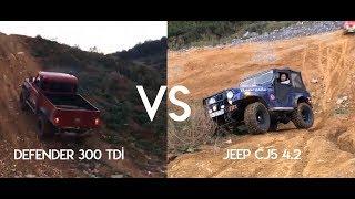 Land Rover Defender 300 Tdi Vs Jeep CJ5 4.2