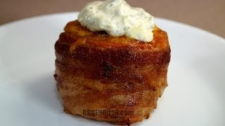 Volcano Tomato Bbq Recipe - Bacon Wrapped Tomato Filled With Cheddar Cheese & Honey Ham - Bbqfood4u