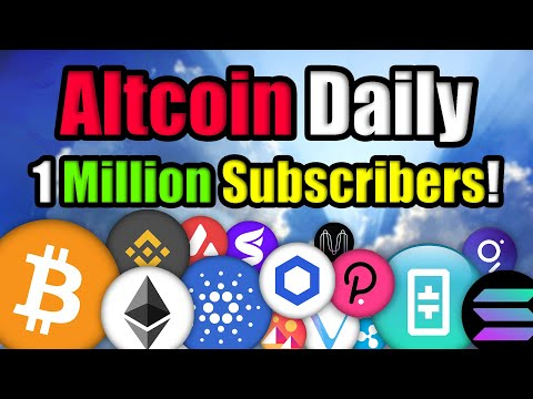 Bitcoin is Moving!! Altcoin Daily Hits 1 Million Subscribers! (EMOTIONAL)