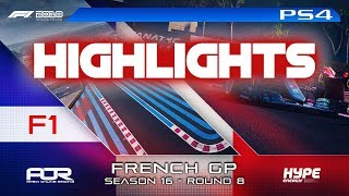 Highlights: F1 2018 | AOR Hype Energy F1 League | PS4 F1 | R8: French GP