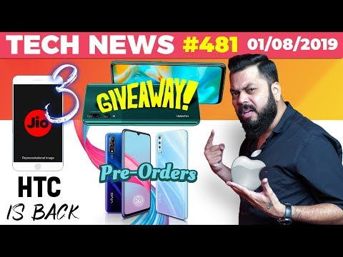 jiophone-3-launch,-vivo-s1-preorders,-htc-india-reentry,-y9-prime-giveaway,-mate-30-pro-cam-ttn#481