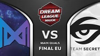 Nigma vs Secret EU Final Leipzig Major DreamLeague S13 2019 Highlights Dota 2