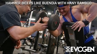 Hammer FST-7 Biceps Like Buendia with Coach Hany Rambod at Bev's