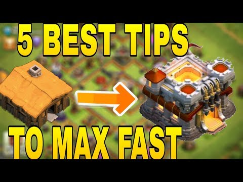 How to MAX TOWNHALL FAST In clash of clans!!