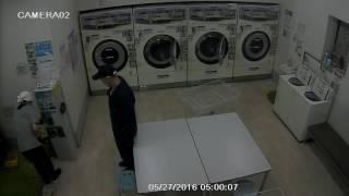 犯罪の瞬間!事件です。江東区 亀戸 窃盗団 防犯カメラ
