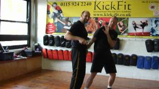 Tuhon Master Hudson Knife Disarm from static Threat Position kickfit Nottingham,uk