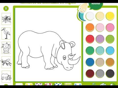 rhino coloring pages for kids rhino coloring pages