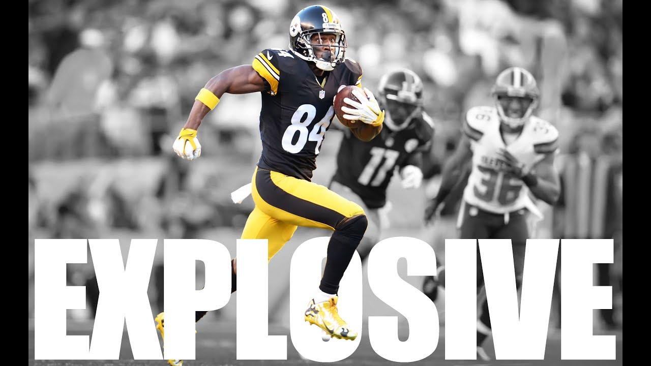 """Antonio Brown """"Explosive"""" á´´á´° 2015 Steelers Highlights"""