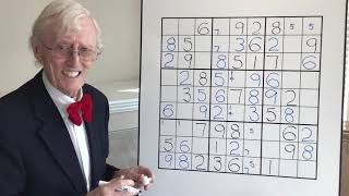 Tutorial #80 A difficult sudoku puzzle made easy
