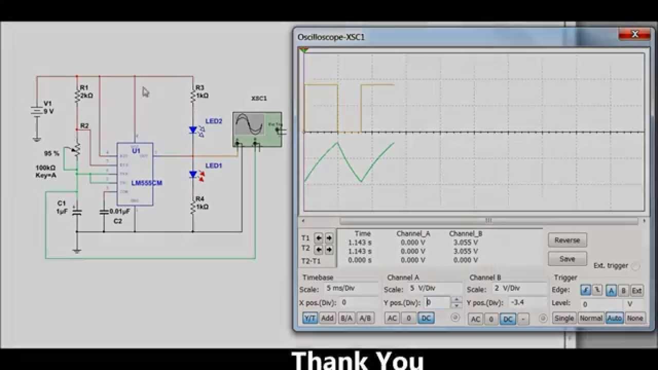 Ne555 Circuit Simulation Youtube This Schematic Is Presented In Multisim 7 Format