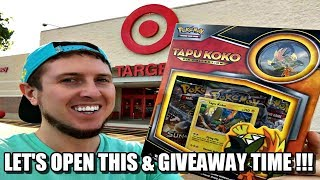TAPU KOKO COLLECTION BOX FROM TARGET! Giveaway & Pokemon Card Opening