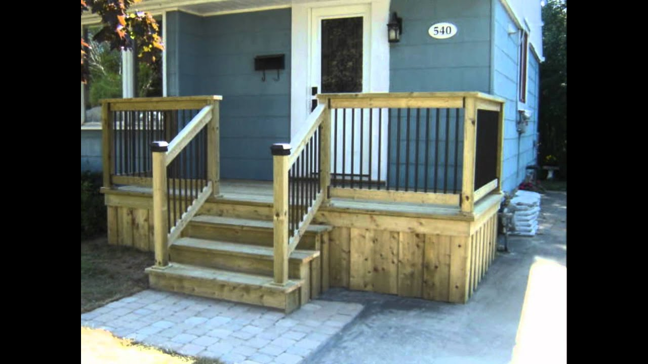 Bon Front Deck Improvement   YouTube