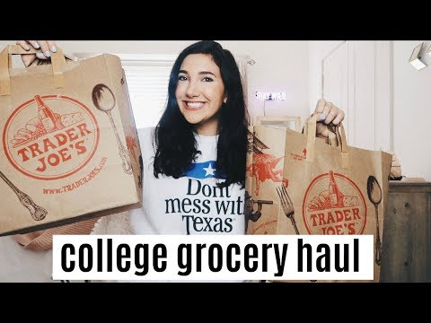 Healthy College Grocery Haul! | Trader Joes Haul