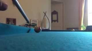 billiards slow motion, effet rentrant du coté de poche
