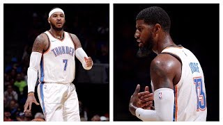 Carmelo Anthony & Paul George Bring The Thunder In Preseason Debut | October 3rd, 2017