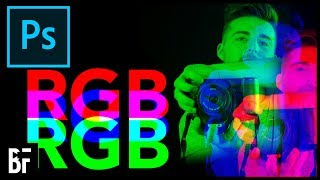 Split the RGB Channels in Photoshop
