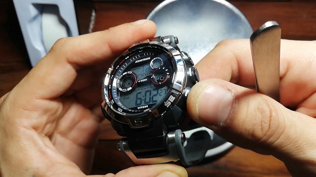 Armitron Guerra Dólares M0901 15 reloj Reloj De Por Unboxing HeDYbWEI29