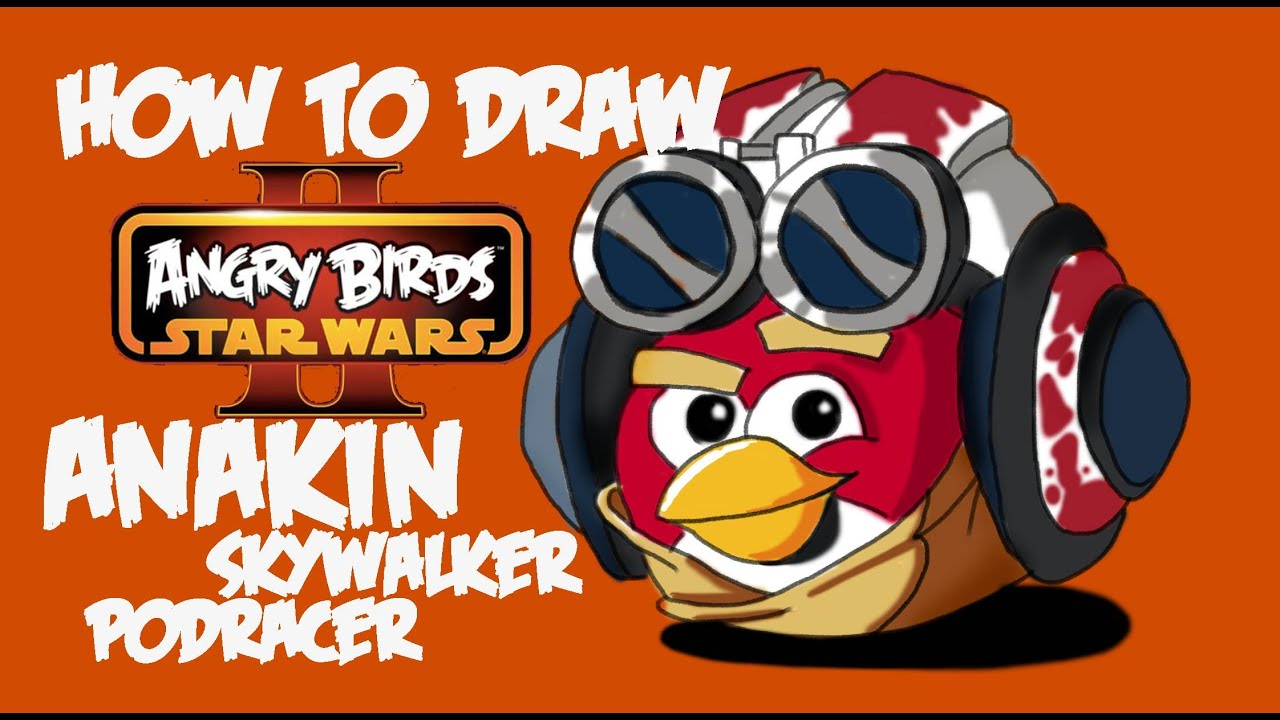 How To Draw Anakin Skywalker Podracer Version (Angry Birds