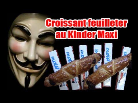 recette-kinder-maxi-en-croissant-feuilleté