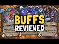 Reviewing BUFFS for 18 Class Cards! Rise of the Mech Event! - Hearthstone