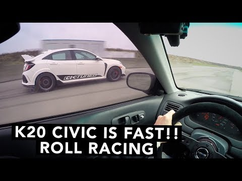 Honda Civic Type R VS K20 Swap Civic - Which Is Faster?