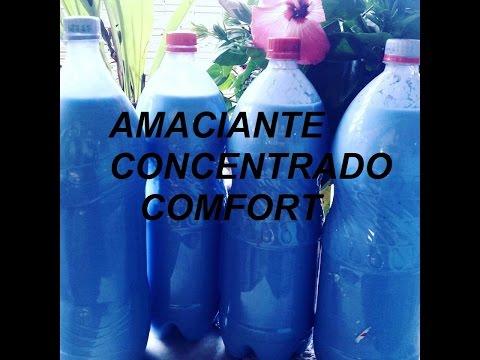 AMACIANTE CONCENTRADO COMFORT CASEIRO .