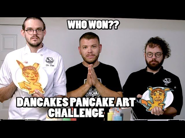 PANCAKE ART CHALLENGE, DANCAKES EDITION! Episode 3: PIKACHU, SHREK, NIGEL THORNBERRY