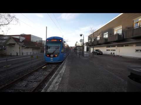 Sweden,  Stockholm,  Lidingö, going to Ropsten, boarding tram in Gåshaga