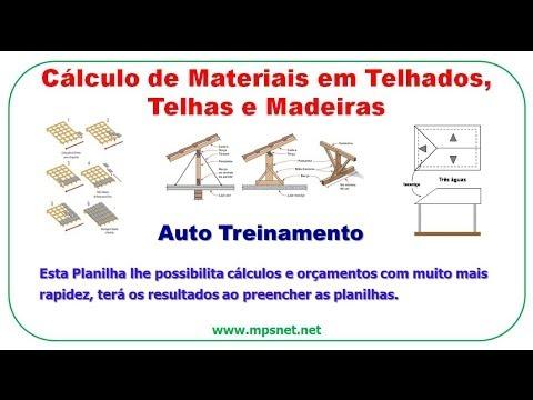 Muito Cálculo de Materiais em Telhados, Telhas e Madeiras SE0072 - YouTube OY84