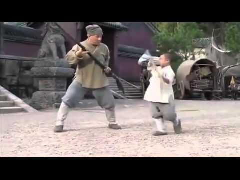 CUMA POKER - Jackie Chan learning Shaolin techniques from a Kid