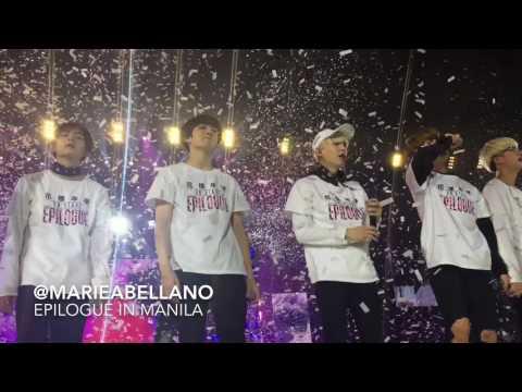 160730 BTS Epilogue in Manila: I Need U @MOA Arena