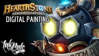HOW TO: Painting a Hearthstone Boom Bot - Photoshop Painting