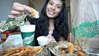 WINGSTOP(MUKBANG)!! | BONELESS WINGS!| LOUISANA RUB | HELLO Di