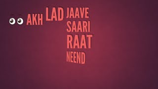 AKH LAD JAAVE – Loveratri | Badshah, Jubin Nautiyal, Asees Kaur,Akh Lad Jaave sari raat neend na ave