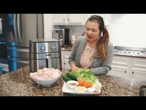 Cách Làm Cánh Gà Chiên Nước Mắm Bằng Air Fryer. How to cook fish sauce chicken wings using air fryer