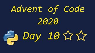 Advent Of Code 2020 Day 10 - Using Python